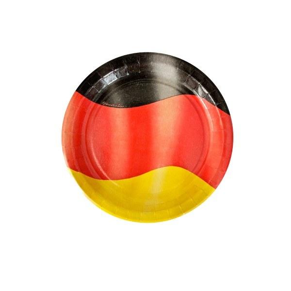 Pappteller Deutschland, ø 23cm, 10 Stück