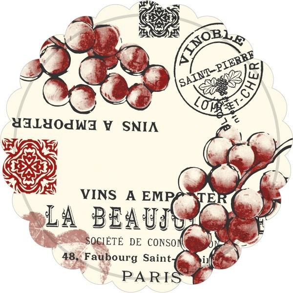 Tassen-Deckchen Coasters Romeo in Bordeaux aus Tissue 9-lagig, Ø 105 mm, 250 Stück