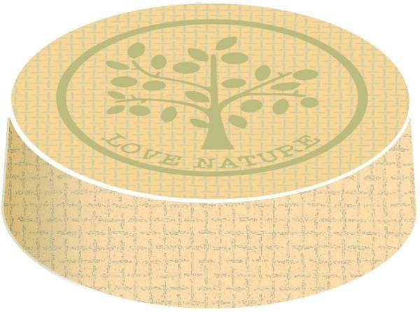Glasabdeckungen aus hochwertigem Karton, Nature in Grün, Ø 74 mm, 200 Stück