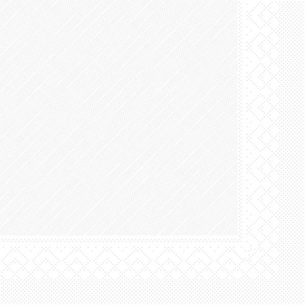 Serviette in Weiß aus Tissue Deluxe®, 4-lagig, 40 x 40 cm, 50 Stück