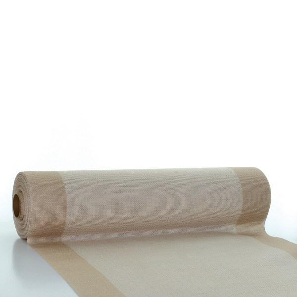 Tischläufer Mailand in hellbraun aus Linclass® Airlaid 40 cm x 24 m, 1 Stück