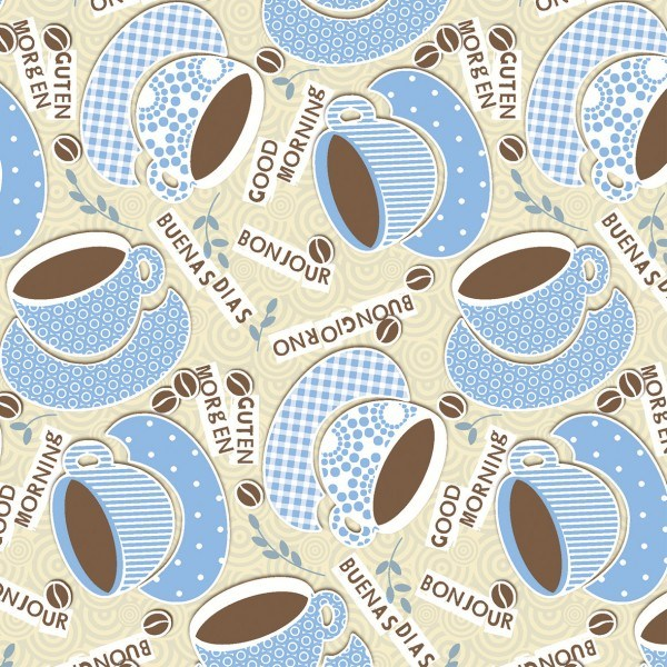 Serviette Kaffee Ole in Champagner-Blau aus Linclass® Airlaid 40 x 40 cm, 50 Stück