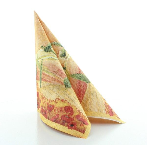 Serviette Lombardia in terrakotta aus Linclass® Airlaid 40 x 40 cm, 50 Stück