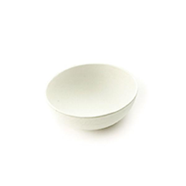 Dipschale aus Zuckerrohr in Weiss, rund, Ø 50 x h 20 mm, 80 Stück
