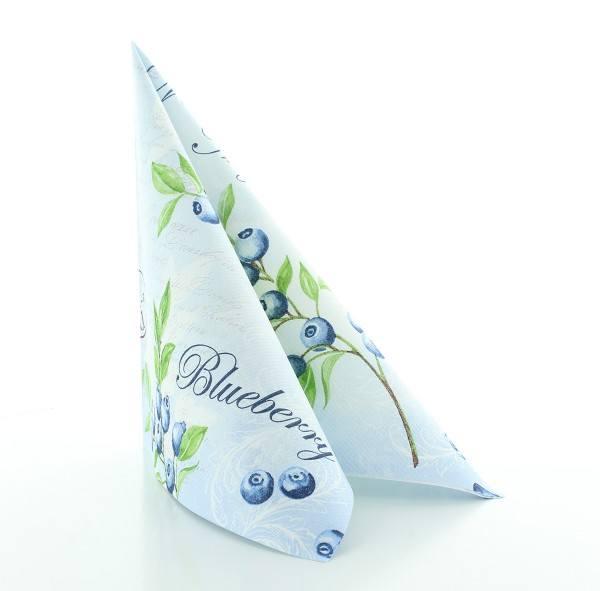 Serviette Bärbel in blau aus Linclass® Airlaid 40 x 40 cm, 50 Stück