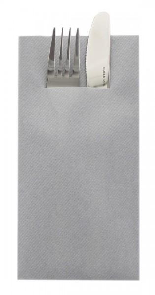 Besteckserviette Grau aus Linclass® Airlaid 40 x 40 cm, 75 Stück