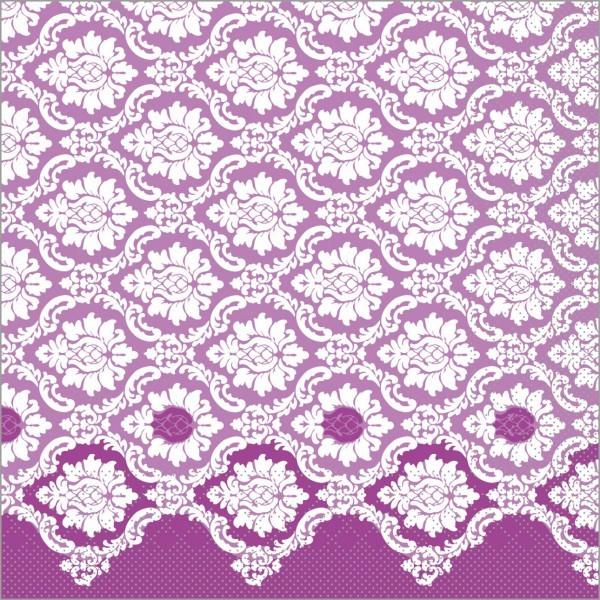 Serviette Mandy in aubergine aus Tissue 40 x 40 cm, 100 Stück
