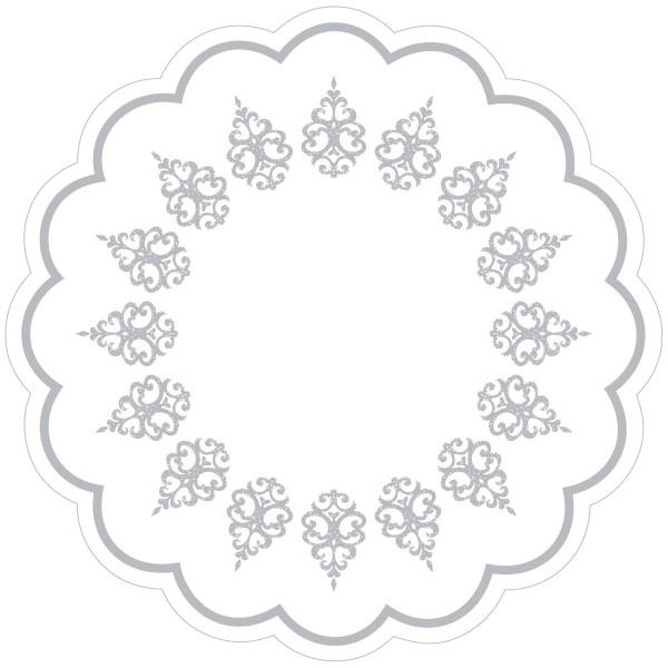 Tablett-Deckchen Royal Line Silber aus Tissue 7-lagig, Ø 180 mm, 250 Stück
