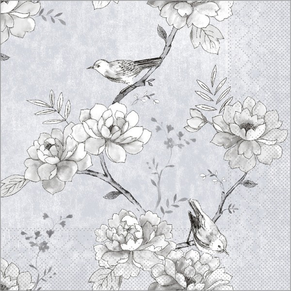 Serviette Maylin in hellgrau aus Tissue 33 x 33 cm, 100 Stück