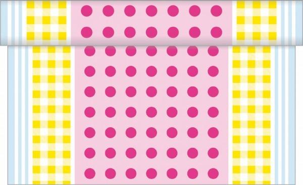 Tischläufer Willi in Gelb-Rosa aus Linclass® Airlaid 40 cm x 4,80 m, 1 Stück