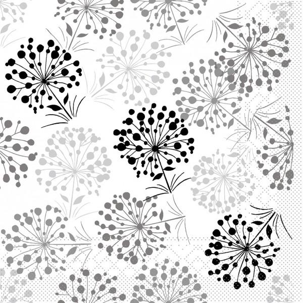Serviette Erna in Grau aus Tissue 33 x 33 cm, 20 Stück