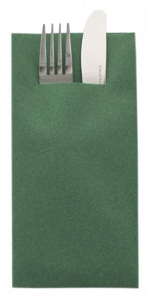 Besteckserviette Dunkelgrün aus Linclass® Airlaid 40 x 40 cm, 75 Stück