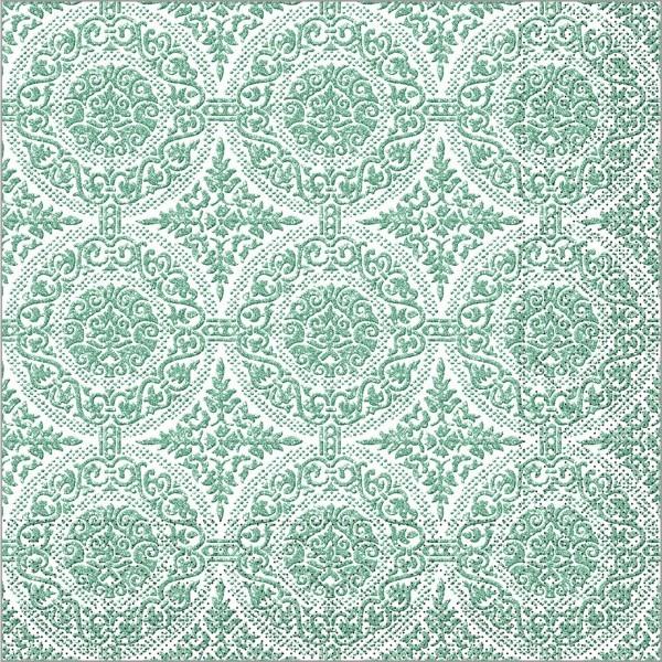 Serviette Madrid-Classic in olive aus Tissue 40 x 40 cm, 100 Stück