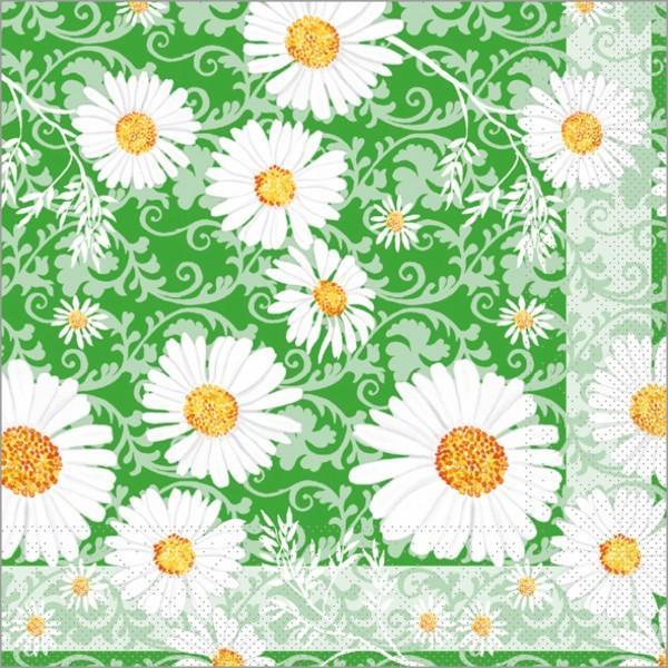Serviette Lissy in grün aus Tissue 33 x 33 cm, 100 Stück