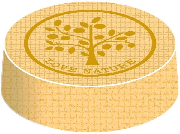 Glasabdeckungen aus hochwertigem Karton, Nature in Braun, Ø 74 mm, 200 Stück