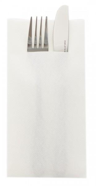 Besteckserviette in Weiß aus Linclass® Airlaid 40 x 40 cm, 100 Stück