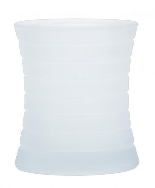 Kerzenglas Curve Frostig/Milchig für Sovie® Refill Kerzen