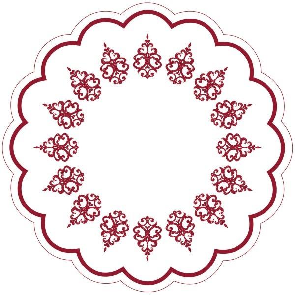 Tablett-Deckchen Royal Line Bordeaux aus Tissue 7-lagig, Ø 180 mm, 250 Stück