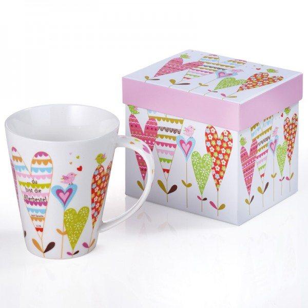 Jumbo-Tasse ALLERBESTE mit Geschenkkarton, 1 Stück
