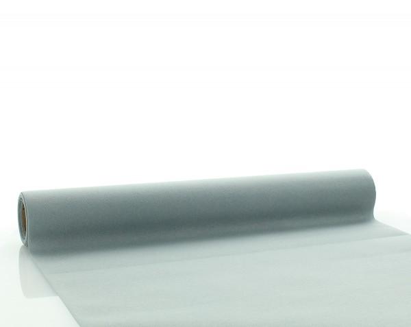 Tischläufer Grau aus Linclass® Airlaid 40 cm x 4,80 m, 1 Stück