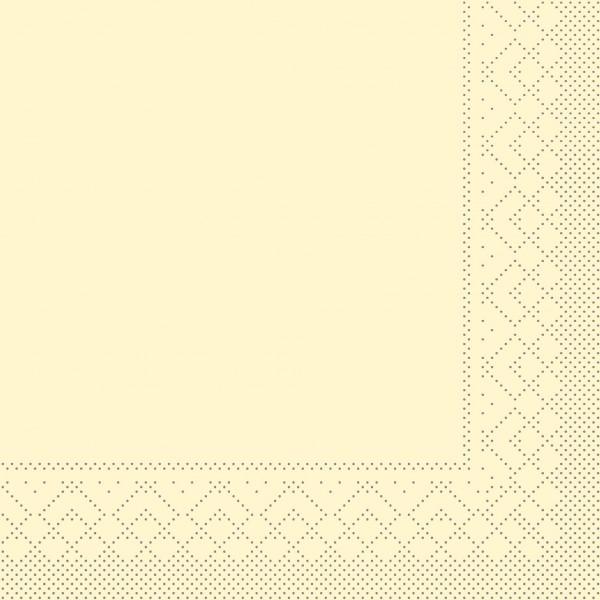 Serviette Creme aus Tissue 33 x 33 cm, 3-lagig, 20 Stück