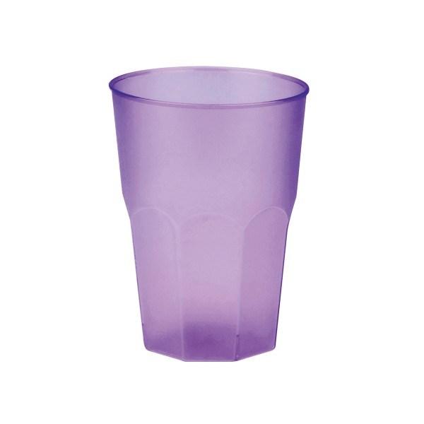 Mehrweg-Cocktailglas aus Plastik, Lila-gefrostet, 420ml, 6 Stück
