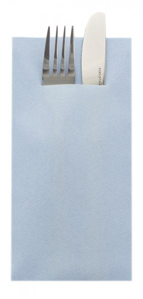 Besteckserviette Hellblau aus Linclass® Airlaid 40 x 40 cm, 75 Stück