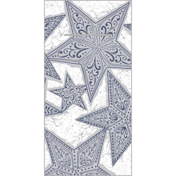 Besteckserviette Gitte in Silber-Blau aus Linclass® Airlaid 40 x 40 cm, 100 Stück