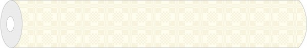 Papier-Tischdeckenrolle Damast in Creme aus Papier 100 cm x 25 m, 1 Stück