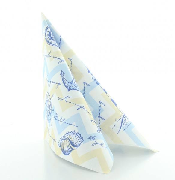 Serviette Maritim in blau aus Linclass® Airlaid 40 x 40 cm, 50 Stück