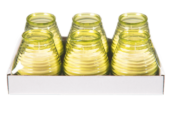 Glaswindlicht Flairlight in gelb 6 Stück im Tray