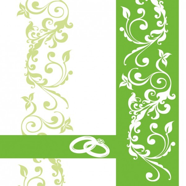 Serviette Hochzeit in Grün aus Linclass® Airlaid 40 x 40 cm, 50 Stück