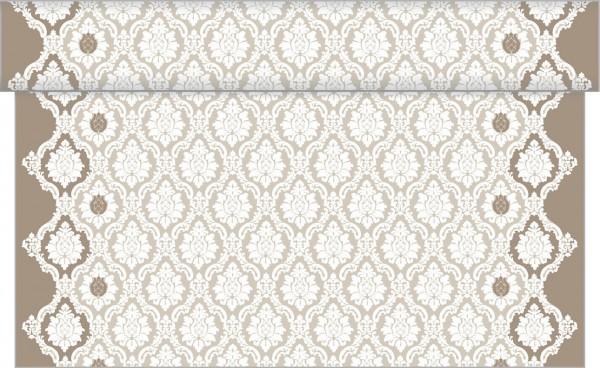 Tischläufer Mandy in grau aus Linclass® Airlaid 40 cm x 24 m, 1 Stück