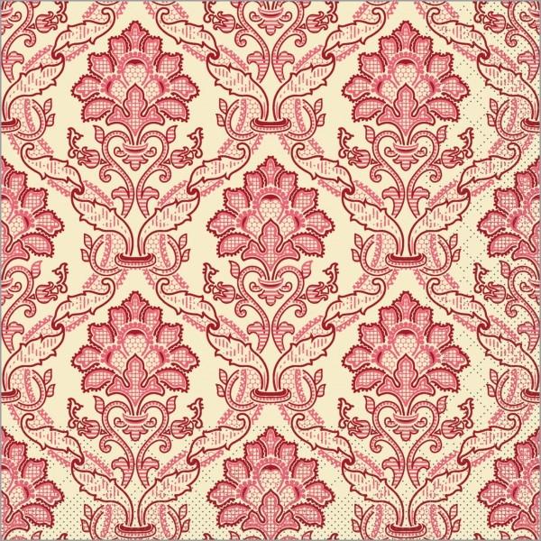 Serviette Cleve in bordeaux aus Tissue 40 x 40 cm, 100 Stück