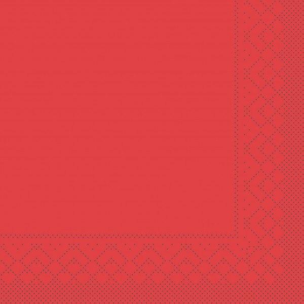 Cocktail-Servietten Rot aus Tissue 25 x 25 cm, 100 Stück