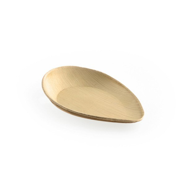 Teller aus Palmblatt, oval, 170 x 108 x h30/12 mm, 20 Stück