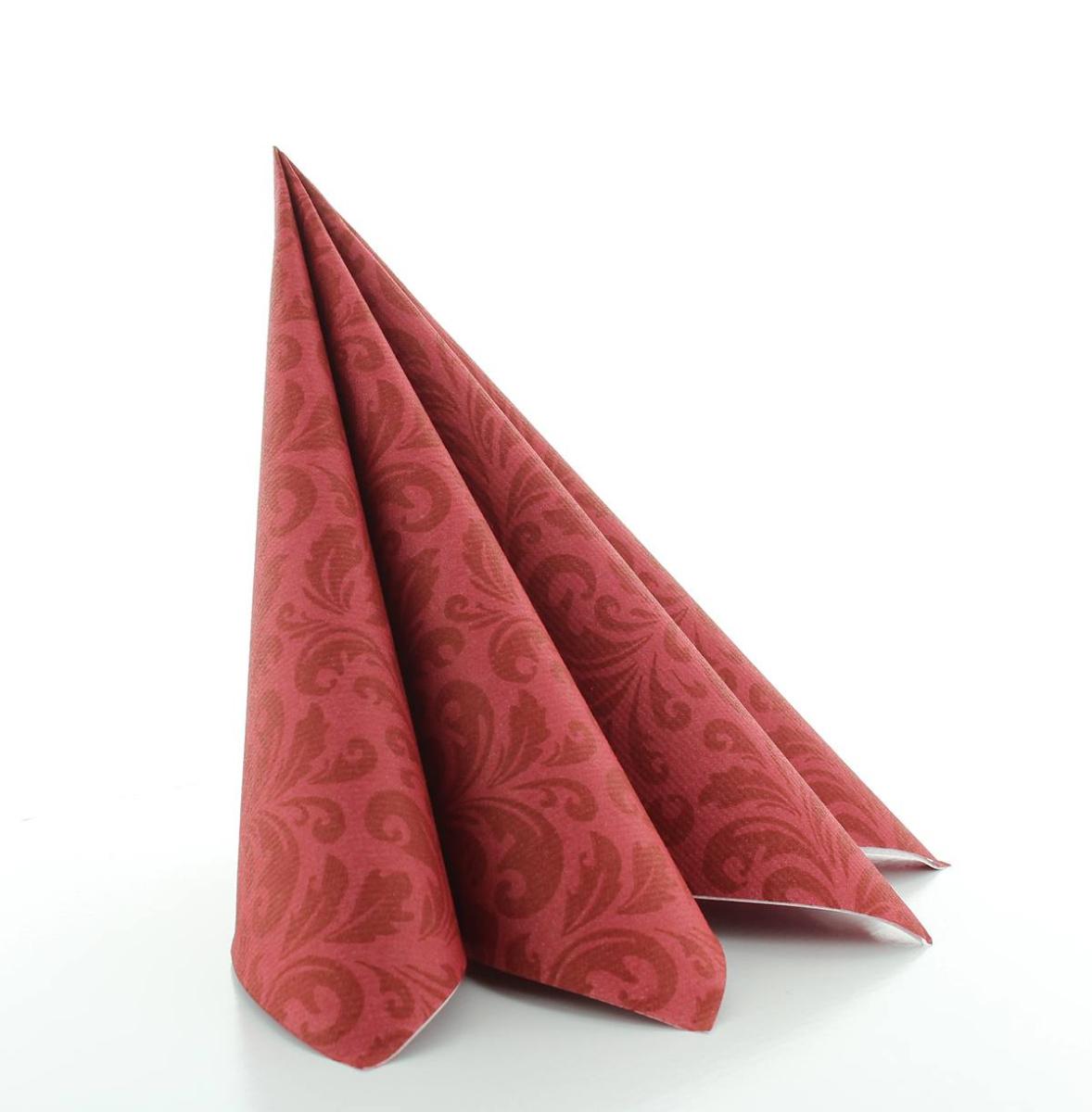 50 Stück Serviette Madrid-Classic in bordeaux aus Linclass® Airlaid 40 x 40 cm
